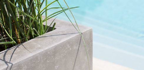 Division Concrete planter close up