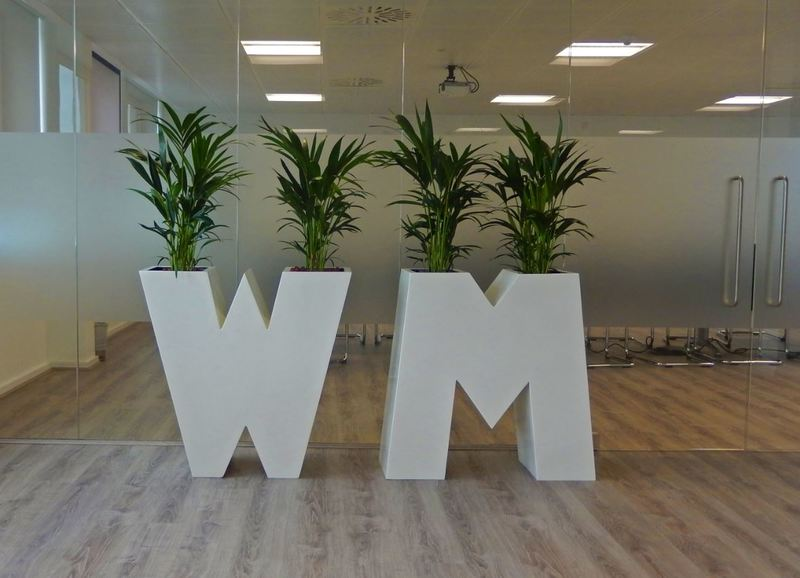 Corporate Logo Plant Displays used in these Midlands offices