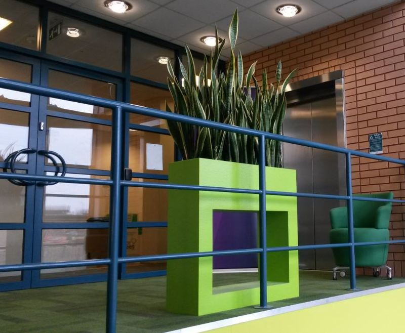 Holey Design Barrier Rectangular Display, overlooking this Northampton office Reception