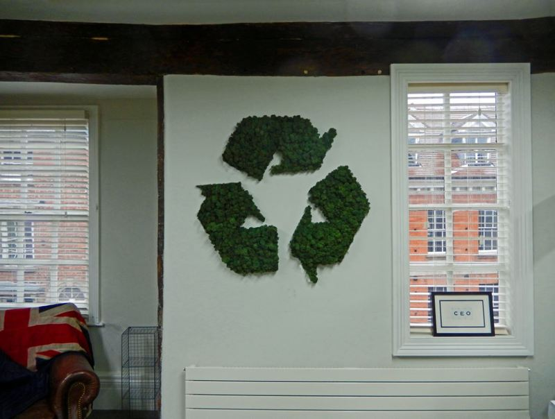 Moss Logo supplied to the office Reception of this London Environmental company