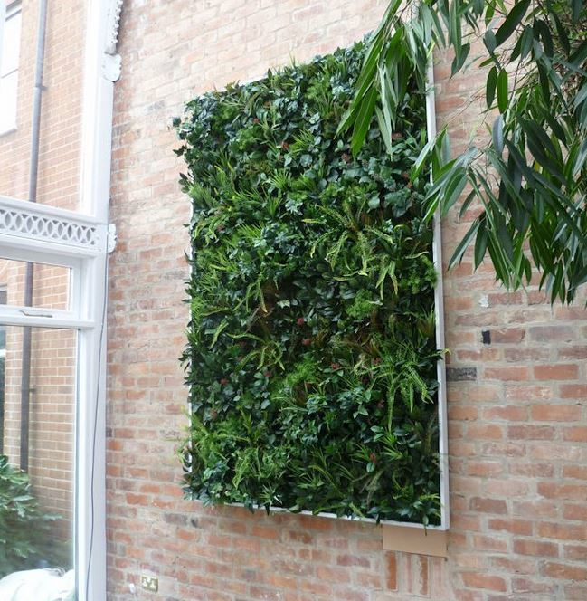 Artificial Green Wall witha frame