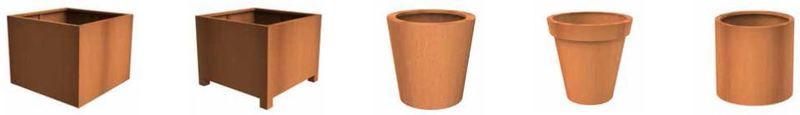 Corten Steel Plant Containers for use inside the office or out