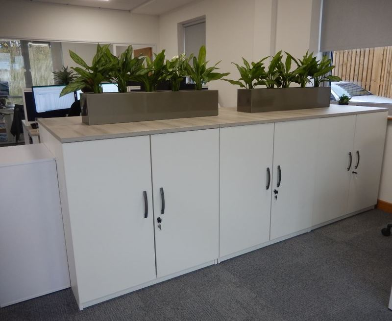 Cabinet top rectangular interior plants for hire in Nottingham offices