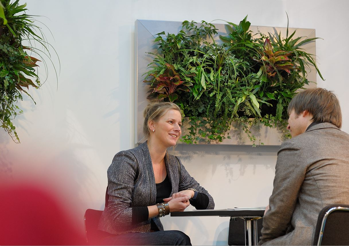 Wonderful Live Plant Picture In Office Meeting Room