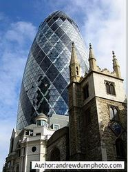 Installation of office plant displays to London's Gherkin Building
