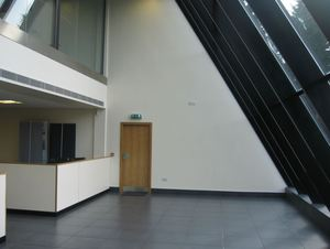 How can we improve our refurbished office atrium?