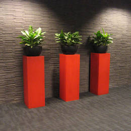 Tall Pedestal Displays For Hsbc Edmund Street Reception  Birmingham B3