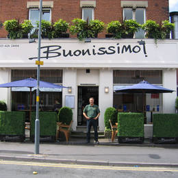 Artificial Boxwood Topiary Hedging Outside A  West Midlands Restaurant