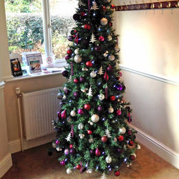 7 Ft Artificial Slimline Christmas Tree Rented To A Midlands Based Company