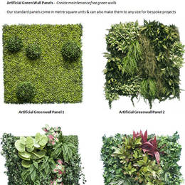Artificial Green Walls Panels options