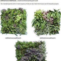 Artificial Green Walls Plant Panels come in different designs