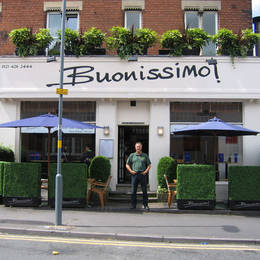 Exterior Plants add value to the outside Harborne Restaurant attracting new customers