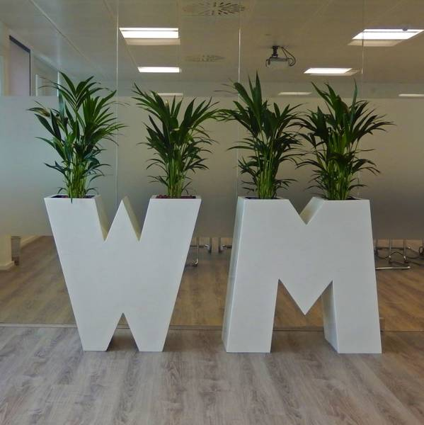 Alphabet Plant Display used in the Reception of these West Midlands offices
